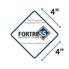 Home Security Alarm System Warning Sticker Fortress Home Theft Deterrent 4 Inch