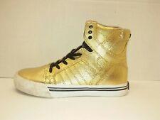 SUPRA MUSKA 001 Gold High Top Skateboarding Shoes - Kid's Size 5.5 ***EUC***