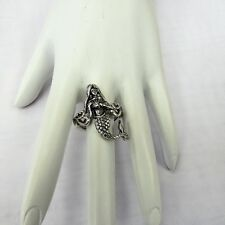 New Silver Plated Stretch Mermaid Ring Beach Sea Life Nautical Summer