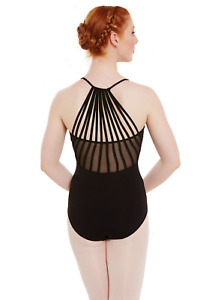 Black Bloch/Mirella Sunray strap leotard - all sizes  MJ7183