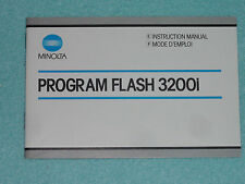 Manual de instrucciones-operating instructions-Minolta Flash 3200 i Engl. - France