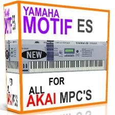 YAMAHA MOTIF ES SAMPLES AKAI MPC 2500 5000 4000 2000 1000 4000 3000 500 5 DVD'S