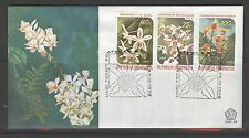 INDONESIA 1978 FDC SHP 56 ORCHIDS ORCHIDEE  + BLANK
