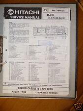 manuels de réparation pour Hitachi d-e3 Platine cassette original