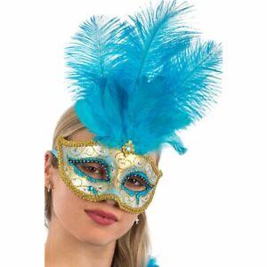Maschera Occhi Con Piume Carnevale MOLLA Carnevale Maschera Costume