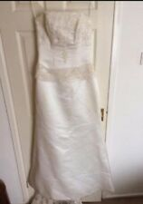 *MAGGIE SOTTERO COUTURE SIZE 8 GORGEOUS IVORY STRAPLESS WEDDING DRESS*L@@K*