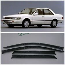 For Nissan Bluebird (U12) 1987-1991 Window Visors Sun Rain Guard Vent Deflectors