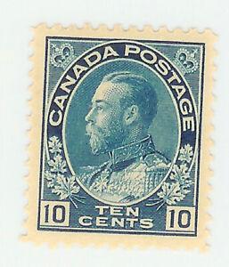 CANADA STAMP - 10 CENT BLUE  - GEORGE V - MLH - Scott. 177