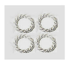50pcs 6mm solid 925 Sterling SILVER closed Jump Rings twisted wire round R06