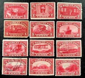 US Parcel Post SC# Q1-Q12 Complete Set Mint or two Light Used