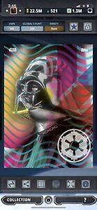 Topps Star Wars Digital Card Trader Neon Geometric Darth Vader Insert Award