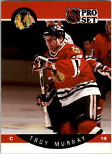 1990-91 PRO SET HOCKEY TROY MURRAY ERROR POSITION & NUMBER IN WHITE #57 MINT