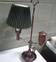"Vintage Student Desk Lamp Electric Brass Steam Punk 21"" Tall (c21)"