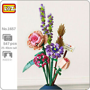 LOZ Eternal Flower Plant Rose Camellia Lavender Orchid Mini Blocks Building Toy