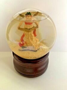 Vintage Silvestri Snow Globe The Wonder Of Christmas Angel-Silent Night-Taiwan