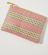 Clare V Woven Clutch Leather
