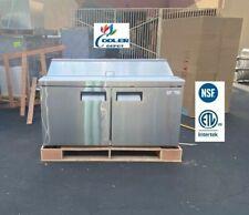 New 60 Commercial Refrigerator Sandwich Salad Pizza Prep Table Nsf Etl