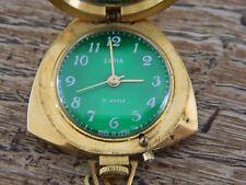 USSR SOVIET Zaria 21 joyas Vintage Colgante Reloj Cuerda Manual
