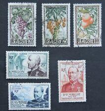 1950 full set 3 fruits & 1954 full set 3 doctors French Algeria used Cv £9+