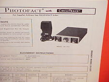 1976 REGENCY CB RADIO SERVICE SHOP MANUAL MODEL CR-202
