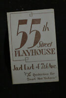 55th Street Playhouse Program *The Armored Vault*Chaplin in The Rink* NYC