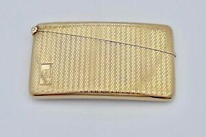 RARE GEORGE V HM 9ct GOLD ART DECO CURVED CARD CASE 1929