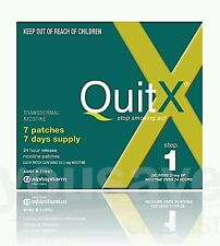 QUITX NICOTINE PATCH 21MG x 7 patches QUIT SMOKING Aid STEP 1- OzHealthExperts