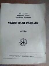 Nuclear rocket propulsion book