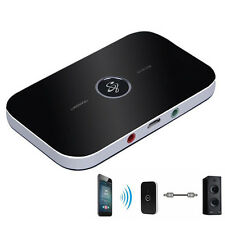 Wireless Bluetooth Audio Transmitter Receiver 3.5mm A2DP Stereo 2 in 1 Adapter