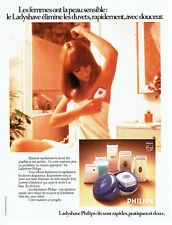 Publicité Advertising 078  1974   Philips   soin jambes aisselles Ladyshave