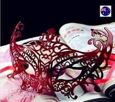 Women Lady Sexy RED PVC Halloween Costume Party Fancy Dance Ball Eye Face Mask