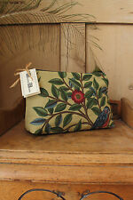 William Morris Kelmscot Tree Fabric Cosmetic Wash Bag Purse Gold