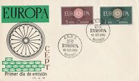 EU99) Spain 1960 - Europa Stamps On First Day Cover