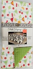 """Kitchen Microfiber Quick Drying Mat,washable, 16""""x24"""" COCKTAILS & FRUITS, gr BH"""