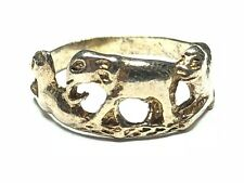 Vintage Ladies Solid Sterling Silver Elephant Ring - Size 6 - Free Shipping