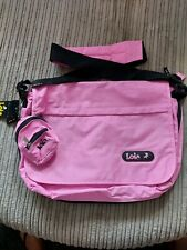 BNWT Lois Accessories Pink Shoulder Bag/School Bag With Coin Purse
