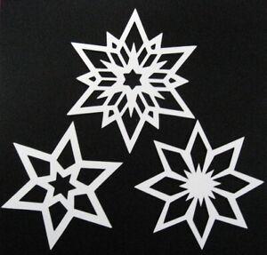 Fensterbild filigran Tonkarton 12 Sterne Weihnachten