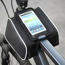 "Roswheel Bicycle Bike Front Top Tube Frame Pannier Double Bag Pouch for 5"" phone"