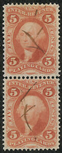 drbobstamps US Scott #R28c Used Revenue Playing Cards Pair Stamps Cat $90