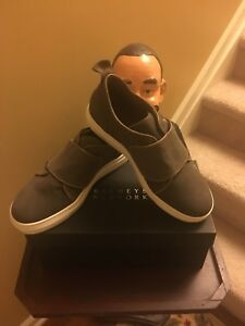 Barneys NY suede slip on sneaker sz 8.   Made in Italy new /100% authentic.