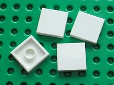 4 x LEGO white tile 2 x 2  ref 3068b / Set 7751 4559 4993 7749 8142 8362 8085...