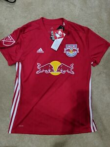 Adidas New York Red Bulls Official Climalite Soccer Jersey Men's Size L DM2960