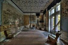 Ivo Sneeuw: Hotel Rouge III Keilrahmen-Bild Leinwand Interieur lost places