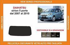 pellicola oscurante vetri dahiatsu sirion 5p dal 2007-2010 kit lunotto