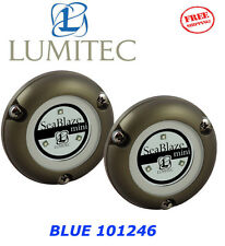 LUMITEC LED Marine Boat SeaBlaze MINI Underwater Light BLUE Brushed NEW 101246