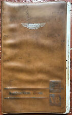 Aston Martin DBS V8   Instruction Book  Owners Manual