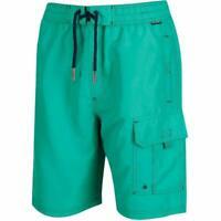 Regatta Men's Hotham Board Swimming Shorts - Green - New