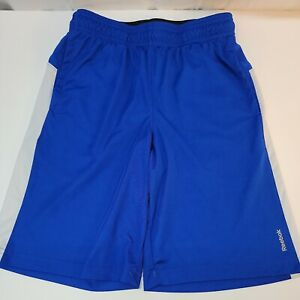 Reebok Boys Speedwick Athletic Shorts M 10-12 Blue/White