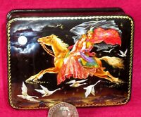 Russian Lacquer box  SIVKA-BURKA GICLEE style small fairy tale Flying Horse Ivan