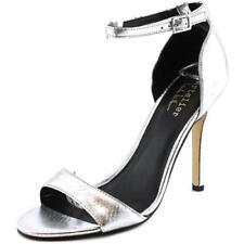 Sandalias y chanclas de mujer de tacón alto (más que 7,5 cm) de color principal plata sintético